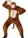 Unisex hooded monkey onesie