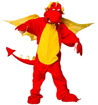 Fire Breathing Dragon onesie